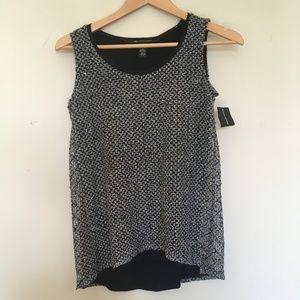 NWT INC Knit Open Back Blouse